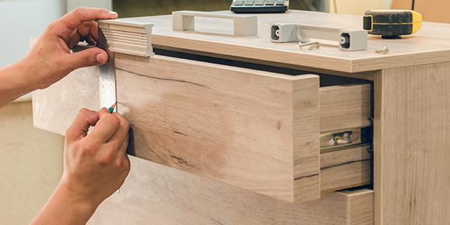 Ausrichten einer Schublade